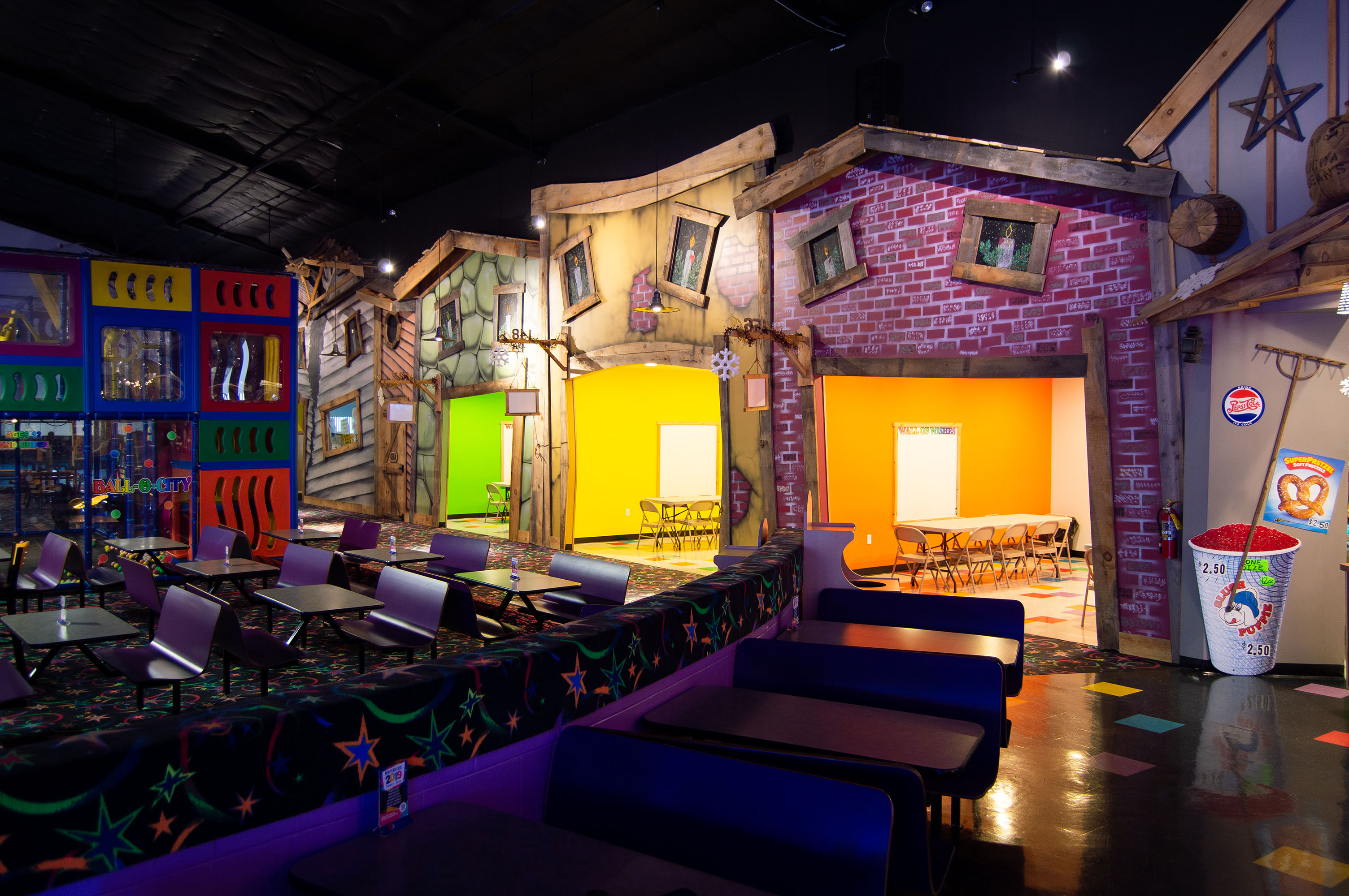 Skatetown Hysteria Party Rooms
