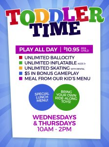 Toddler Time at Skatetown Hysteria