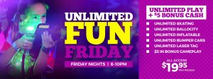 Unlimited Fun Friday at Skatetown Hysteria