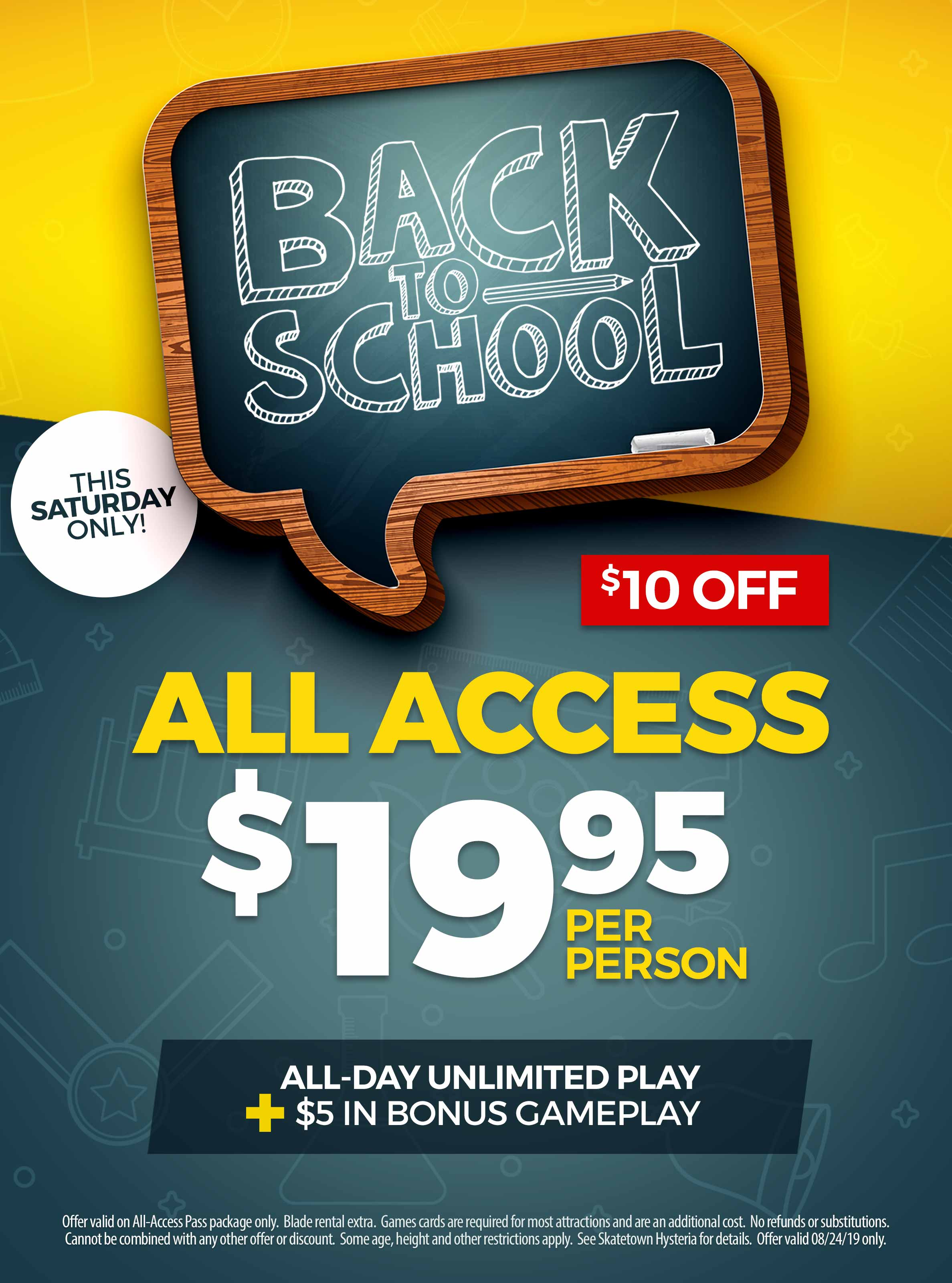 Back To School: $10 off an All-Access Pass at Skatetown Hysteria