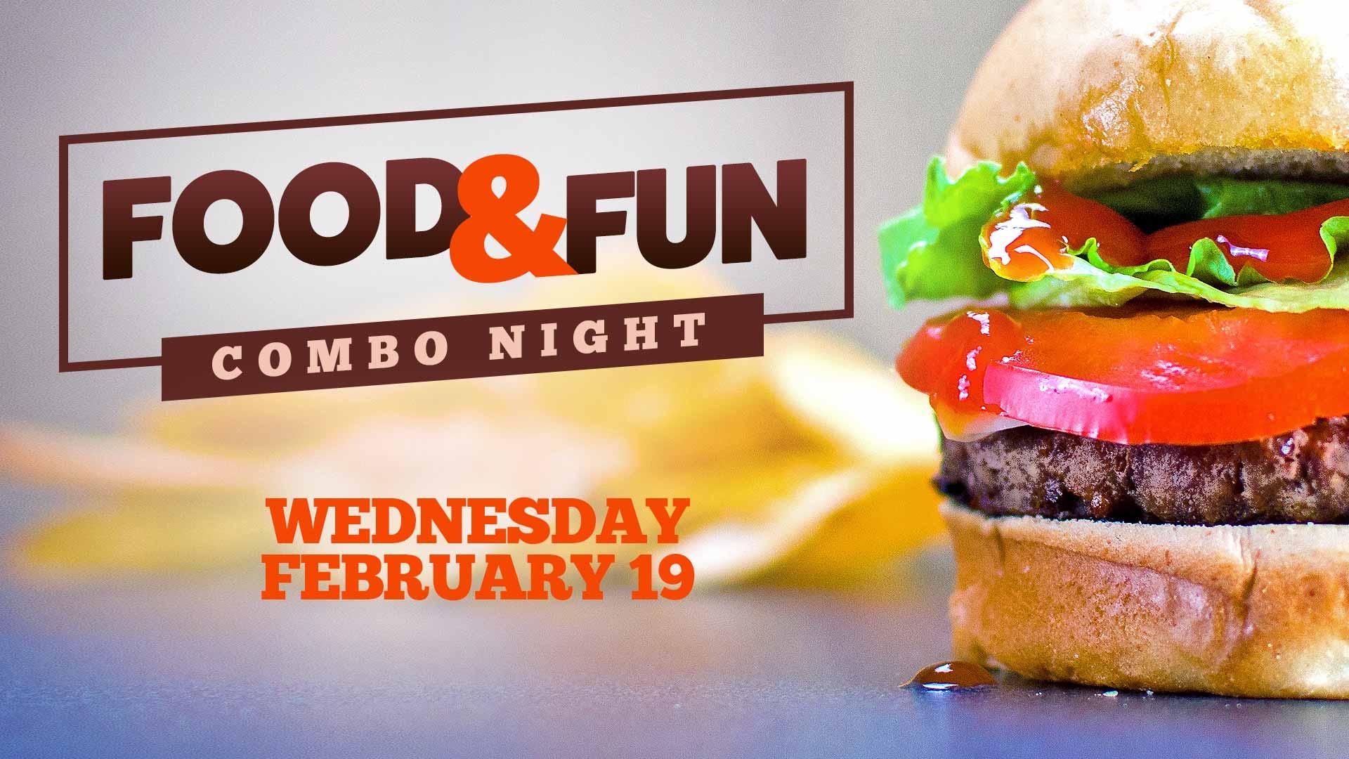 Food & Fun Combo Night at Skatetown Hysteria